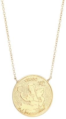 Jennifer Zeuner Jewelry Sylas 14K Gold Vermeil Virgo Medallion Necklace