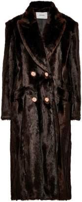 Erdem Almeda Double-breasted Faux Fur Coat