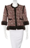 Chanel Fur-Trimmed Tweed Jacket