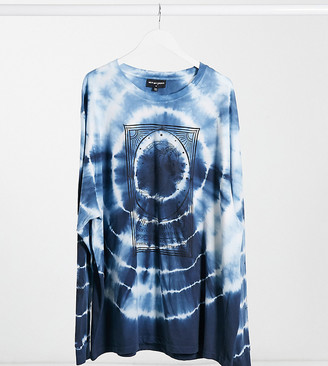 New Girl Order Curve oversized t-shirt with dance print in tie dye two piece