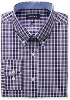 Nautica Men's Regular Fit Check Buttondown Collar Dress Shirt