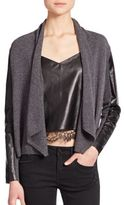The Kooples Wool, Cashmere & Leather Cardigan