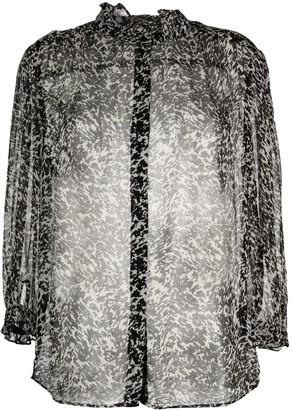 BA&SH Elia abstract-print semi-sheer blouse
