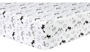 Trend Lab Moose & Mountain Flannel Crib Sheet Bedding