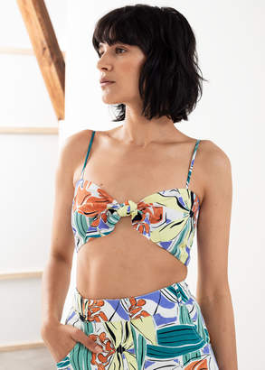 And other stories Tropical Tie Bandeau Top