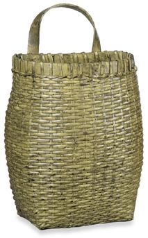 Bed Bath & Beyond Yellow Rattan Hanging Basket