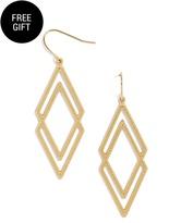 BaubleBar Queen of Diamond Drop Earrings