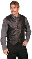 Scully Western Vest Mens Lambskin Leather Snap M Black Soft 507-144