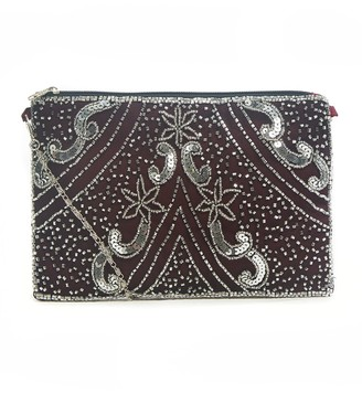 Jywal London Sophia Vine Red Embellished Small Evening Purse
