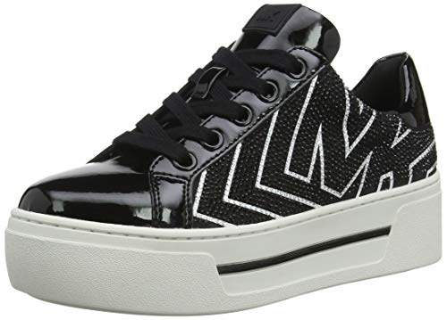 Michael Kors Women's Mkors Ashlyn Sneaker Trainers, (Black 001)