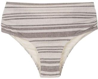 Track & Field Striped Bikini Bottom