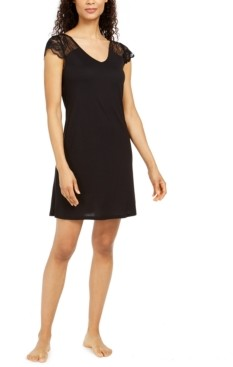 Charter Club Petite Lace Sleeve Nightgown, Created for Macy's