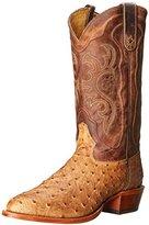 Tony Lama Men's Antique Tan Vintage FQ Ostrich Western Boot