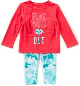 Under Armour Baby Girls 12-24 Months Play Your Heart Out Tee & Patterned Leggings Set