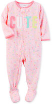 Carter's 1-Pc. Cute Dot-Print Footed Pajamas, Baby Girls (0-24 months)
