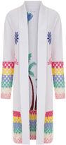 Mira Mikati White So So Busy Crochet Cardigan