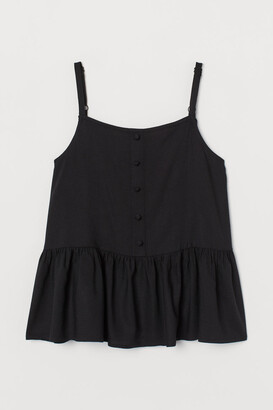 H&M Flounced strappy top