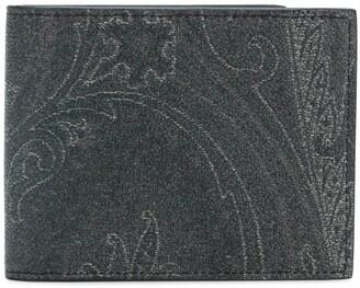Etro Paisley Print Billfold Wallet