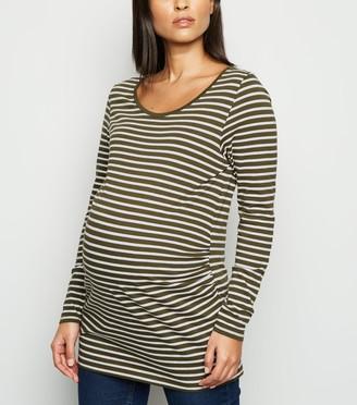 New Look Maternity Stripe Long Sleeve Top