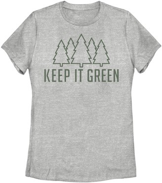 "Juniors' ""Keep It Green"" Graphic Tee"