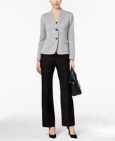 Le Suit Textured Colorblocked Pantsuit