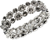 Nine West Silver-Tone Crystal Stretch Bracelet
