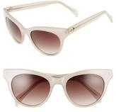 Draper James Women's 54Mm Gradient Lens Cat Eye Sunglasses - Black