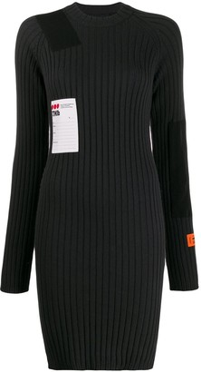 Heron Preston Ribbed Knitted Dress