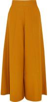 Merchant Archive - Wool-crepe Wide-leg Pants - Mustard
