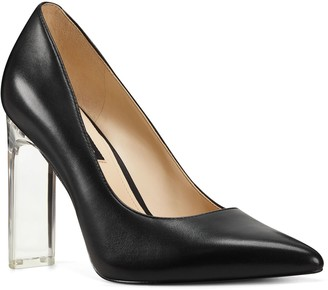 Nine West Pointed Toe Pumps with Sculpted ClearHeel - Trixi