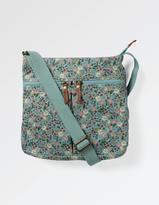 Fat Face Floral Canvas Cross Body Bag