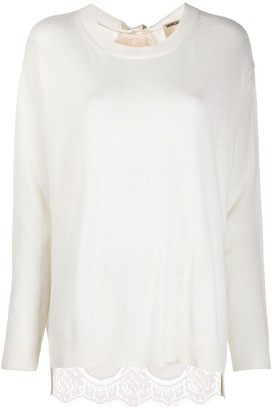 Semi-Couture Yolande contrast-back jumper