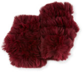 Jocelyn Fingerless Rabbit Fur Gloves, Cabernet
