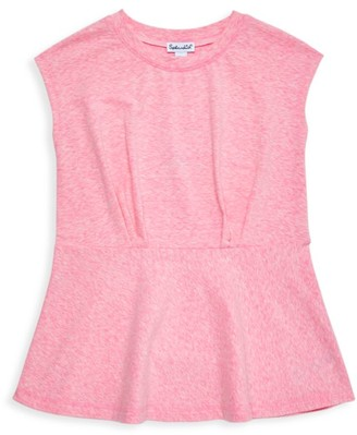 Splendid Little Girl's & Girl's Pintuck Peplum Shirt