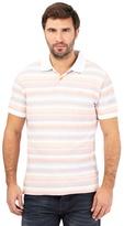 Mantaray Big And Tall Pink Striped Polo Shirt