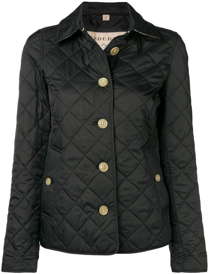 Burberry check-print quilted jacket