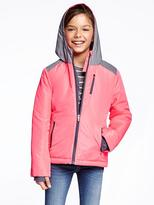 Old Navy Hooded Reflective Snowboard Jacket for Girls