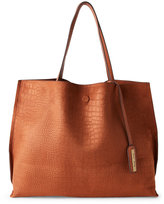 Street Level Reversible Faux Croc Tote