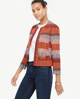 Ann Taylor Tall Mixed Stripe Tapestry Jacket