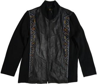 Bob Mackie Black Leather Jacket for Women