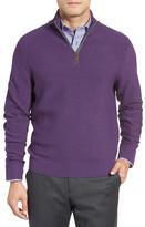 David Donahue Merino Wool Quarter Zip Sweater