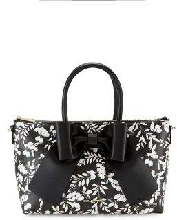 Karl Lagerfeld Paris Floral-Print Faux Leather Crossbody Bag