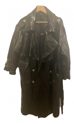 Nasty Gal Black Patent leather Trench coats
