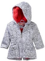 Urban Republic Melange Fleece Lined Hooded Jacket (Baby Girls)