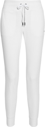 DKNY Glitter-embellished French Cotton-blend Terry Track Pants