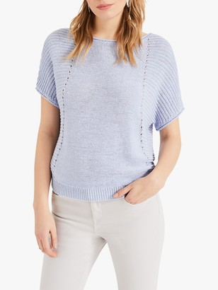 Phase Eight Tillie Knit Top, Ice Blue