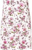 Giambattista Valli floral print A-line skirt