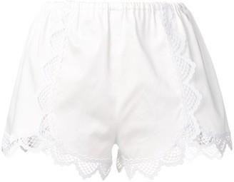 Giamba Lace Trim Shorts