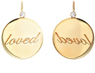 Dru Sapphire Loved Medallion - Yellow Gold