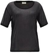Saint Laurent Sheer Cotton-jersey T-shirt - Womens - Black